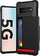 Galaxy S10 5G Case, VRS Design Slim Premium Wallet Case Card Holder Shockproof [Damda Glide Shield] [Matte Black] Reinforced Corners Compatible with Galaxy S10 5G, 6.7 inch (2019)