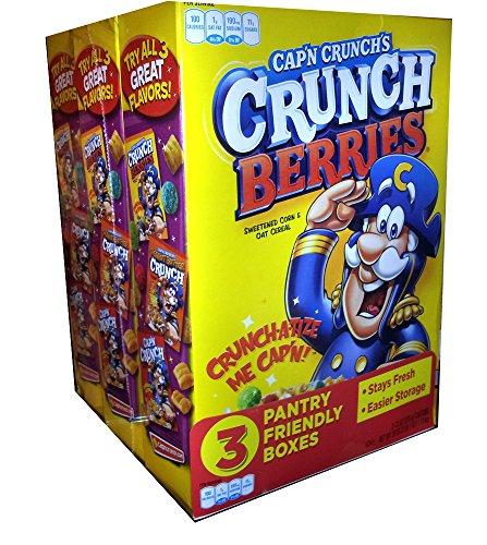 Cap'N Crunch's Crunch Berries 3 Pantry Friendly Boxes - 13 oz Each