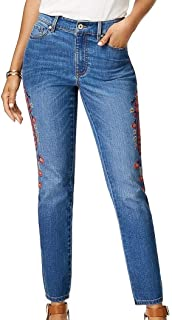 Tommy Hilfiger Womens Embroidered Skinny Jeans Sea Breeze 4