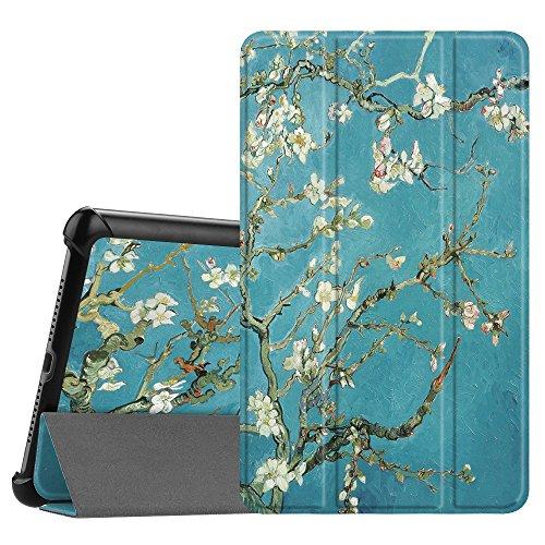 Hülle Case für Huawei Mediapad M5 8 Tablet - Ultra Dünn Superleicht SlimShell Ständer Case Cover Schutzhülle Auto Sleep/Wake Funktion für Huawei MediaPad M5 21,34 cm (8,4 Zoll), Mandelblüten