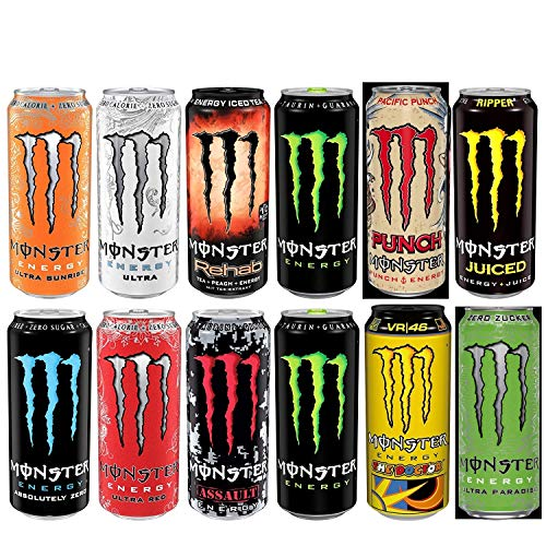 Monster Energy Drink Super Set Dosen (12 x 0.5 l) inc. 3.00€ EINWEG Pfand
