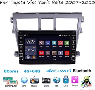 For Toyota Vios Yaris Belta 2007-2013 Android Car Stereo 9 Inch HD Touchscreen Car Radio Supports GPS Full RCA Output OBD ...