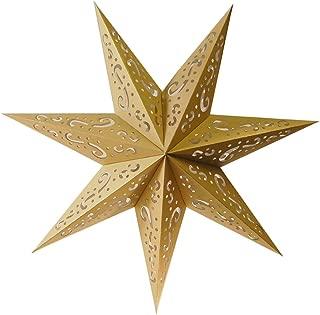 Lumabase 87103 Paper Lantern 7 Pointed Star, Gold