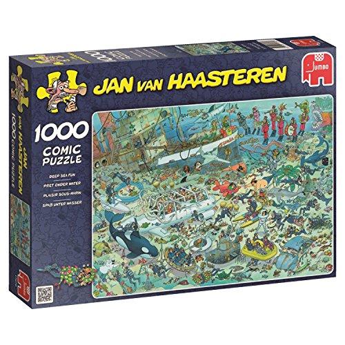 Jumbo Spiele 17079 Jan Van Haasteren Unterwasserwelt, 1000 Teile Puzzle für Erwachsene