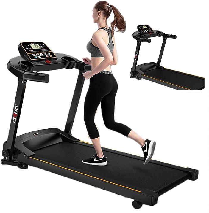 tsosginaog tapis roulant elettrico ultra silenzioso per uso domestico con impugnatura e test della frequenza cardiaca 894-113-289