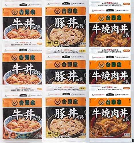 吉野家 丼の具3種9食セット 牛丼の具、豚丼の具、牛焼肉丼の具各3食