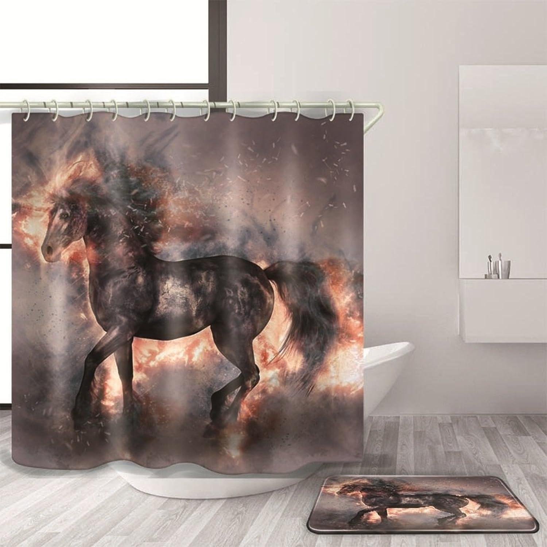 echa un vistazo a los más baratos GBT Cortina Cortina Cortina de ducha impermeable 3D Animal Pattern   cortina de ducha a prueba de agua y esteras antideslizantes Mouldproof cortina de ducha de bao,180  240cm, 1003  ventas al por mayor
