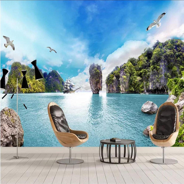 alta calidad Xbwy Papel Tapiz Fotográfico 3D Junto Junto Junto Al Mar Mural Sala De Estar Dormitorio Decoración Para El Hogar Fondo-200X140Cm  de moda