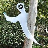 JOYIN Halloween Tree Wrap Ghost Decoration, Smiling Ghost Design Decorations, Halloween Outdoor, Lawn, Tree Decor, Ghost Party Supplies