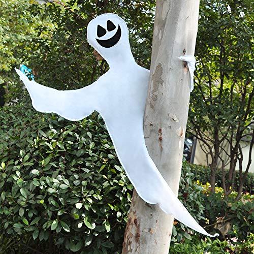 JOYIN Halloween-Weihnachtsbaum-Dekoration, lächelndes Geister-Design, Dekoration für Halloween, Outdoor, Rasen, Baumdekoration, Geister-Party.