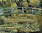 Stagno giapponese delle ninfee del ponte di Monet Dipingere Con i numeri Kit Diy Fai Da Te Pittura Numerata Telaio Per Adulti Bambini Pennelli e Pigmento Su Tela Senza Cornice Acrilico Decorazione