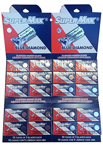 Super-Max Blue Diamond 両刃替刃 100枚入り(5枚入り20 個セット)【並行輸入品】