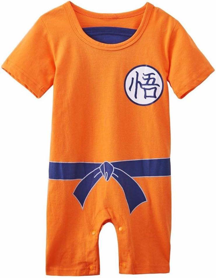 Ropa para bebé, diseño súper heroe DBZ, body pijama para niños disfraz Goku, disfraz original y divertido, 100 % algodón. Talla:3 a 6 meses: Amazon.es: Ropa y accesorios