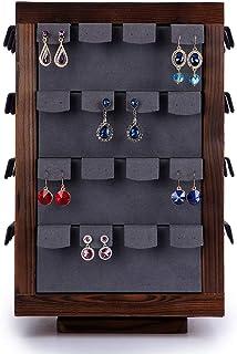 Jewellery Boxes Stud Rack 64 Earrings Jewelry Display Stand Jewelry Storage Rack Jewelry Shop Window Display Props Jewellery Boxes & Organisers (Color : Brown, Size : 23 * 37cm)