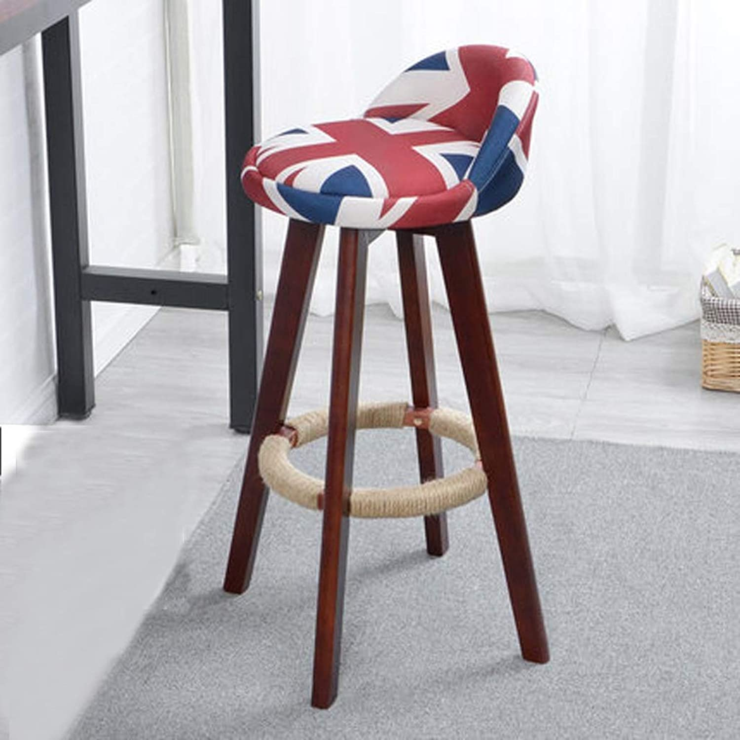 YJXJJD Solid Wood Bar Stool High Chair European Bar Chair Front Desk Bar Stool Simple High Stool (color   Multi-colord)