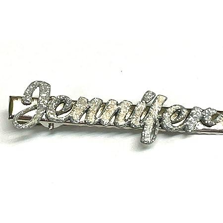 Princcess Hair Barrette Custom Name Personalized Barrette Laser Cut Diamond Look