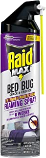 Raid Max Bed Bug Crack and Crevice, Extended Protection, Foaming Spray, 17.5 oz
