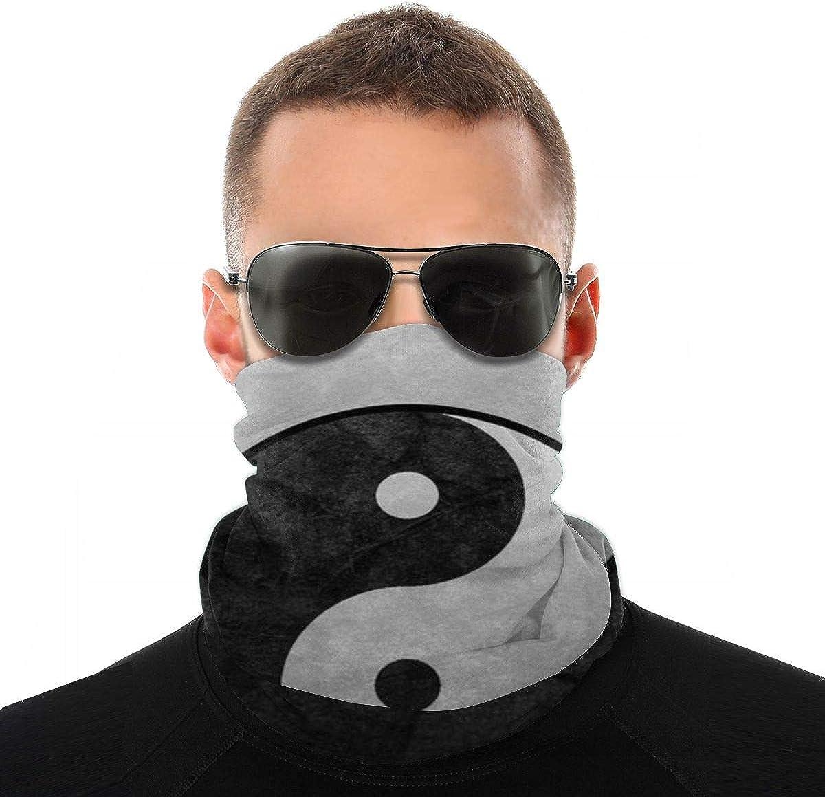 Taoist Yin Yang Tai Chi Headband Headwear Windbreak Scarf Face Mask Washable Dust Mask Balaclava Neck Bandana Double Print