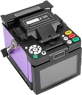 X-500 Empalmadora automática de fusión de fibra Máquina de empalme de soldadura óptica USB2.0 110-240V para FTTH/FTTx(Enchufe de EE. UU.)