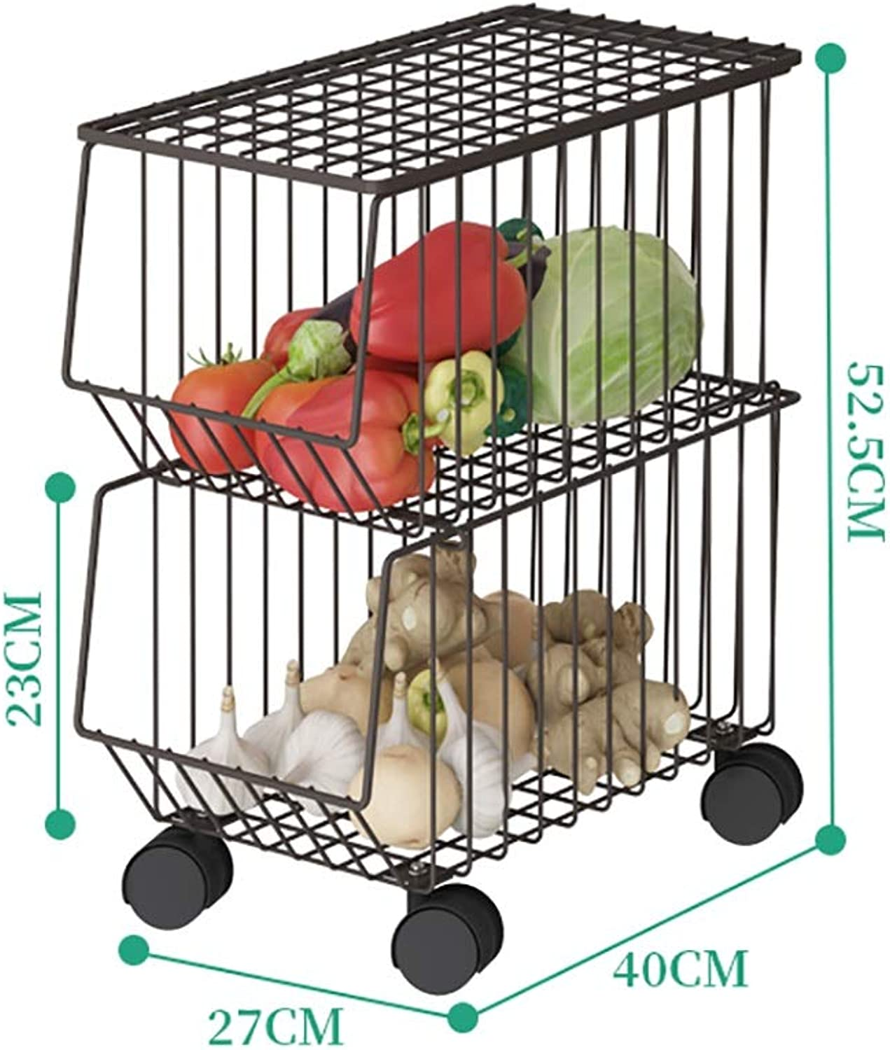 Shelf Kitchen Narrow Removable Storage Rack Metal Pulley Easy to Move for Kitchen, Bathroom, Balcony, (Size   A)