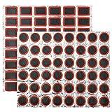 XINDA Kit de reparación de pinchazos de tubo interior, 48 piezas de parches cuadrados+48 unidades