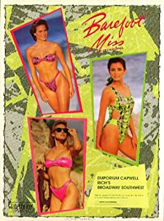 94f96dd84ac4a Barefoot Miss of California Waterbrite New Wave Fabric swimsuit ad 1990