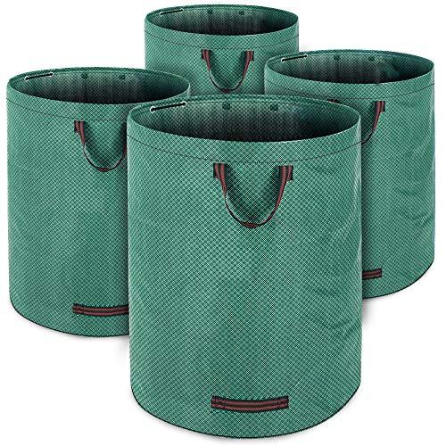 Gartenabfallsack Laubsack 4 x 280 Liter = 1120L bis zu 50kg belastbar zusammenfaltbar Gartensack Gartentasche Rasensack