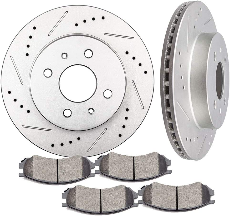 INEEDUP 2 Brake Max Sale 73% OFF Disc Rotots and 4 Pads fit 91- for Front Ceramic