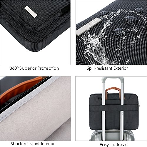 Lacdo 360° Protective Laptop Shoulder Bag Sleeve Case for 13 Inch New MacBook Air | MacBook Pro Touch Bar 2016-2020 | Surface Book 3 2 | MacBook Pro Retina 2012-2015 | 13