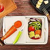 DYOYO Tagliere Rettangolare, Tagliere Plastica con Scanalatura, Materiale PP per Alimenti, Resistente al Calore Antimicrobico e Non Tossico - 33.5 * 21 * 7.5CM/41 * 26.5 * 8CM
