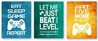 Unframed Funny Video Game Themed Wall Art Print Inspirational Quotes Art Painting, Set of 3(8