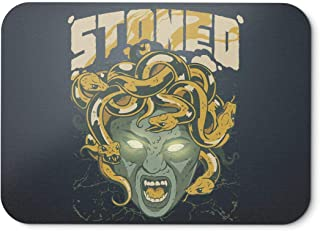 BLAK TEE Ancient Medusa Stoned by Weed Mouse Pad 18 x 22 cm in 3 Colours Black