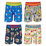 Nintendo Boys' Big Super Mario Brothers Underwear Multipacks, 4pk Athletic, 8