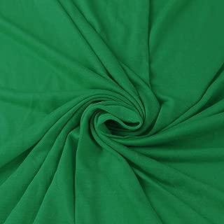 Kelly Green 100% Rayon Jersey Knit Fabric, Causal Jersey Knit Fabric, Knitting Fabric by the Yard - 1 YARD