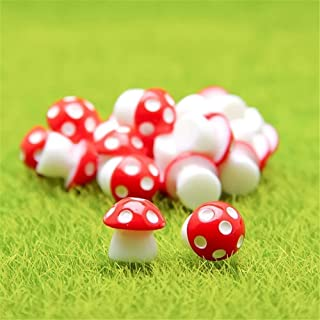 Danmu 10pcs Mini PVC Mushrooms Miniature Figurines, Fairy Garden Accessories, Fairy Garden Animals, Fairy Garden Supplies,...