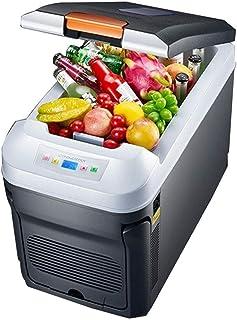 Car refrigerator Electric Coolbox 35L Car Refrigerator Horizontal Thermostatic Dual-core Digital Display Car Dual-use Mini...