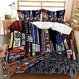 Juego de cama con funda nórdica de graffiti hip-hop en color 3D, cama individual para adultos y adolescentes con estampado de moda, ropa de cama doble, textiles para el hogar-G_135X200cm (2pcs)