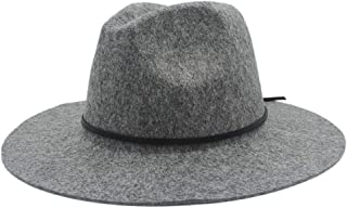 SHENTIANWEI Men Women Wool Fedora Hat Dance Party Hat Casual Wild Church Hat Adult Jazz Hat Size 56-58CM