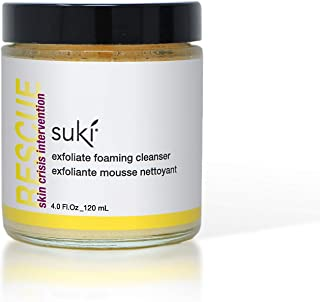Suki Skincare Exfoliate Foaming Cleanser - With Natural Sugar & Colloidal Oat - Mechanical Exfoliant that Reduces Dry Skin Buildup While Promoting Raidant, Smooth, Soft Skin - 4 oz