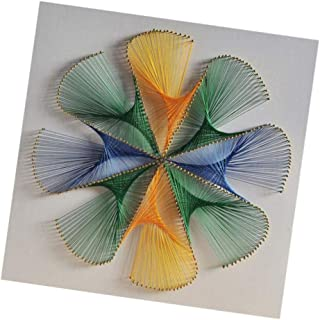 dailymall Magic Flower String Art Handmade DIY Decoration String Art Kits for Adults 40x40cm