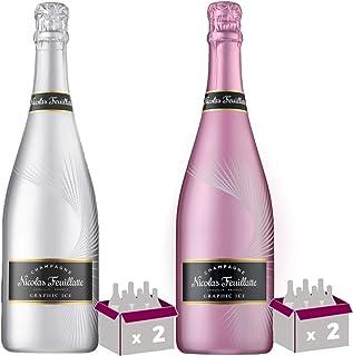 Champagner Nicolas Feuillatte - Grafisches Eis x2 / Grafisches Eis Rosé x2-4  75cl