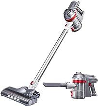Cordless Vacuum, 4 in 1 Stick Vacuum Cleaner Lightweight & Ultra-Quiet Handheld Vacuum for Car Pet Hair Carpet Hard Floor, Silver