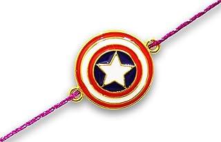 Captain America Sheild Rakhi for Brother Raksha Bandhan Kids Rakhi Indian Hindu Festival