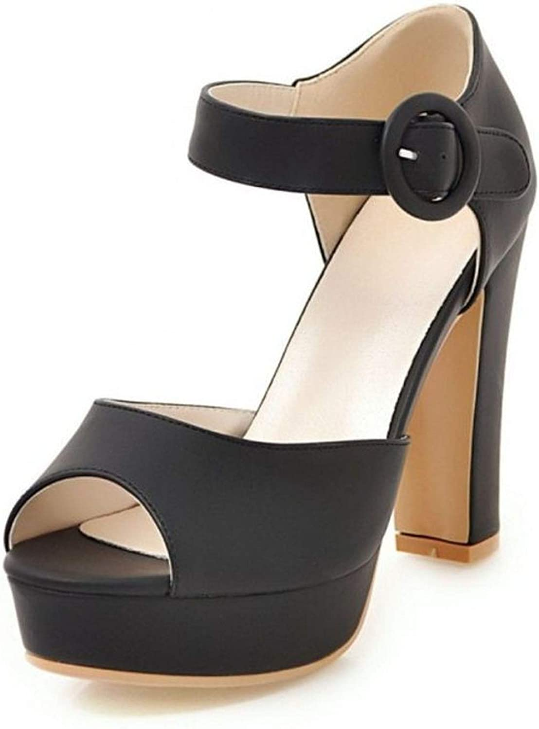 Sandals Platform Fashion High Heels Summer shoes Concise Open Toe Office Lady Daily Footwear