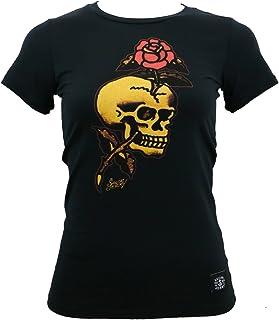 Sailor Jerry Junior's Skull Rose T-Shirt Black