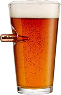 The Original BenShot Pint Glass with Real Bullet Made in the USA