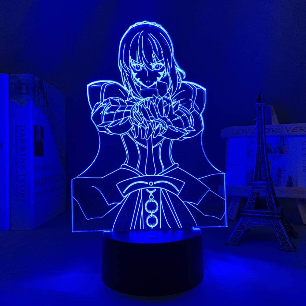 3D Anime Night Light for Boys Award-winning store Be Stay Lamp Saber Fate Trust