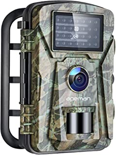 APEMAN Trail Camera 16MP 1080P No-Glow Infrared Night Vision Hunting Camera for Wildlife Monitoring, Garden, Home Security...