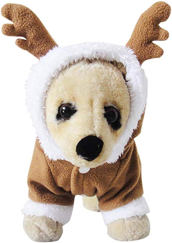 NACOCO Pet Costumes Dog Christmas Suit Dog Elk Santa Costume Polar Fleece Fit for Puppy Dog Teddy (5XL)