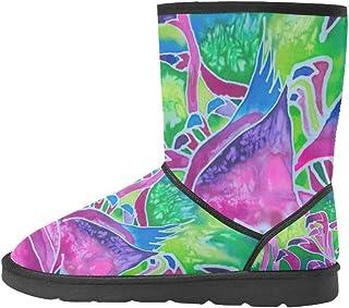 Artsadd Fashion Women's Shoes Retro World Map High Top Womens Snow Boots